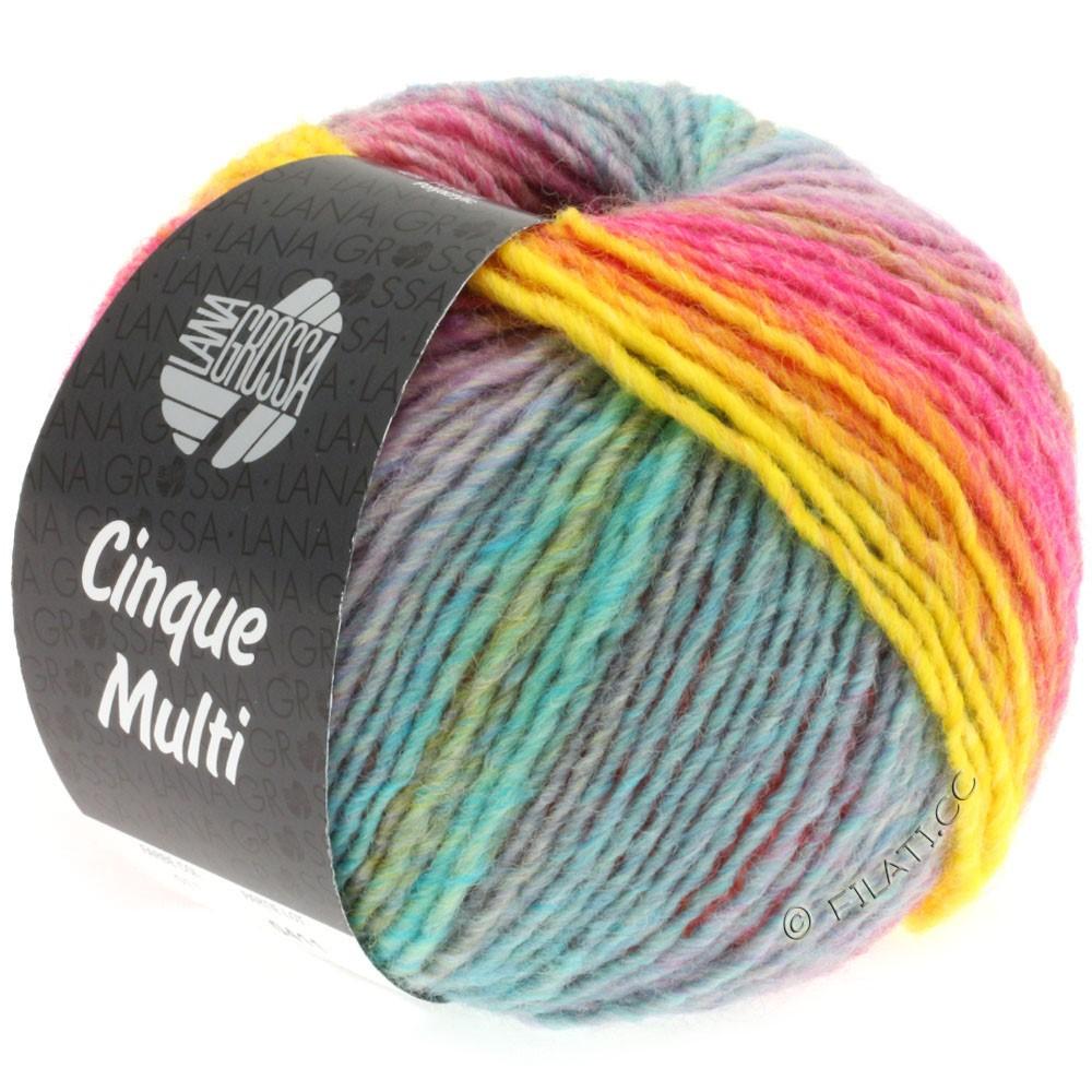 Lana Grossa CINQUE MULTI | 11-pink/gul/purpur/blå/grøn/orange/turkis meleret