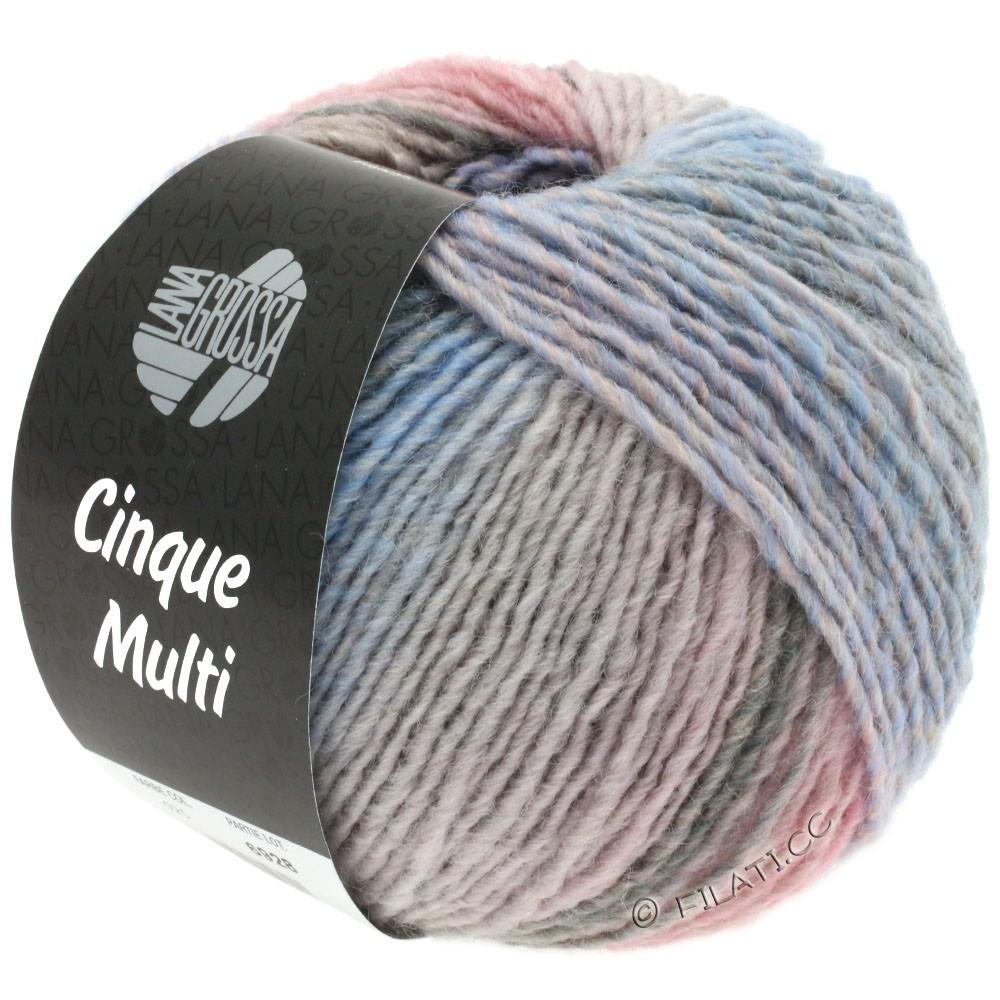 Lana Grossa CINQUE MULTI | 27-violet/rosa/beige/grå/lyseblå/grège meleret