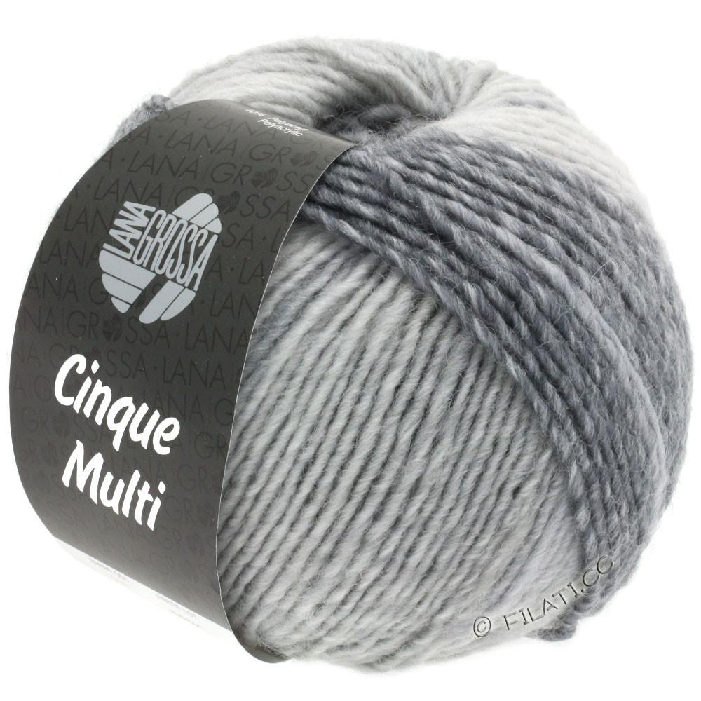 Lana Grossa CINQUE MULTI | 28-hvid/lysegrå/gennemsnit grå/mørkegrå/antracit meleret