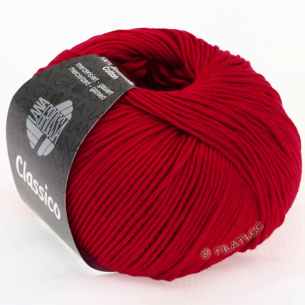 Lana Grossa CLASSICO Uni   05-rubinrød