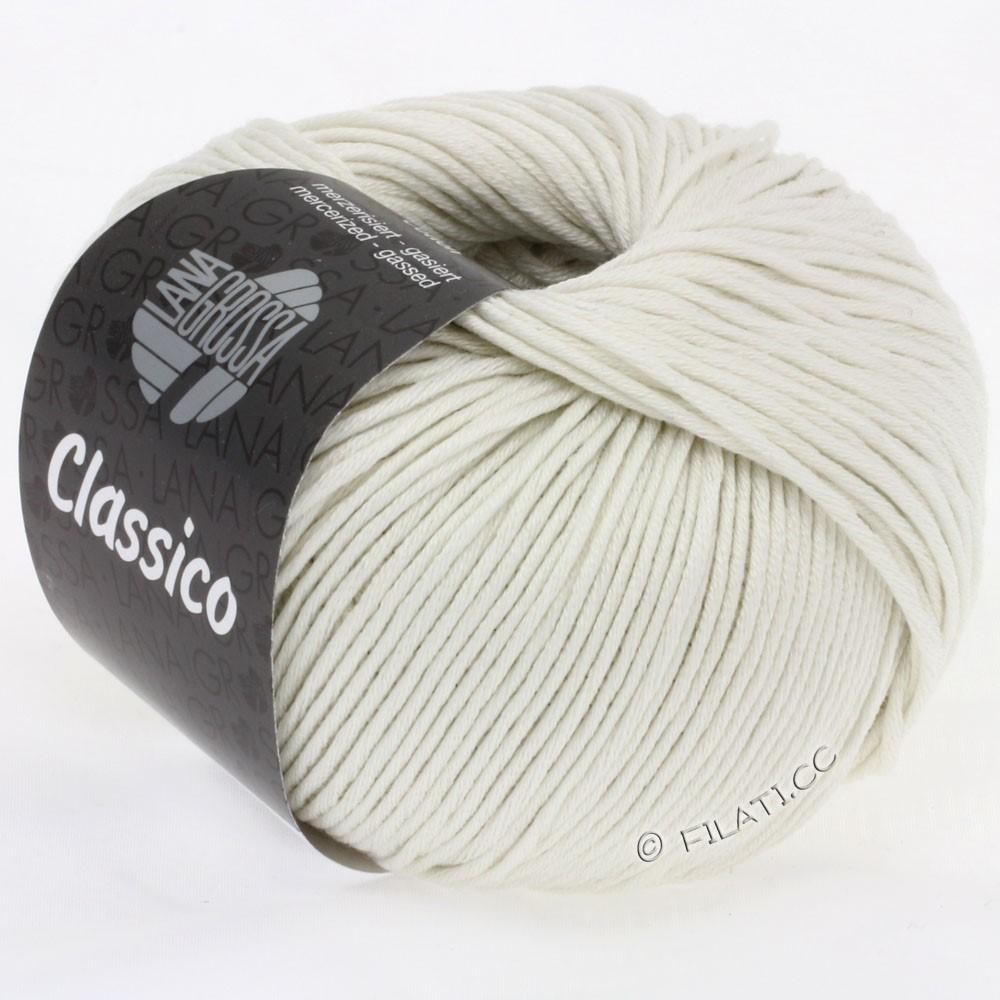 Lana Grossa CLASSICO Uni   08-rå hvid