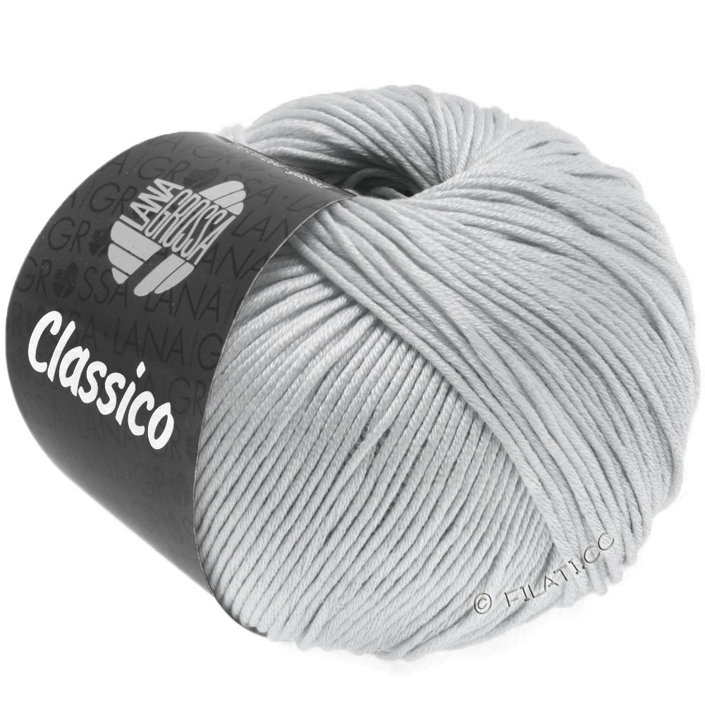 Lana Grossa CLASSICO Uni   57-sølvgrå