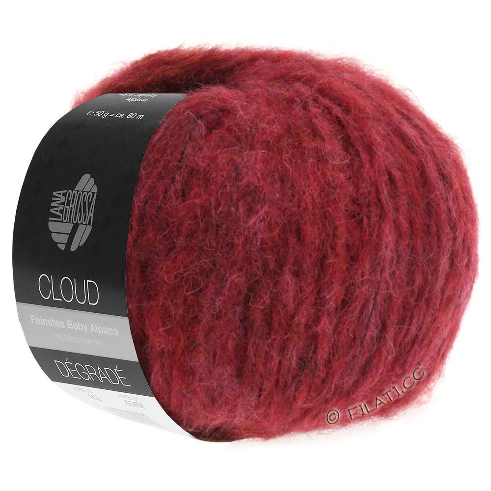 Lana Grossa CLOUD Dégradé | 104-rødviolet/teglstensrød