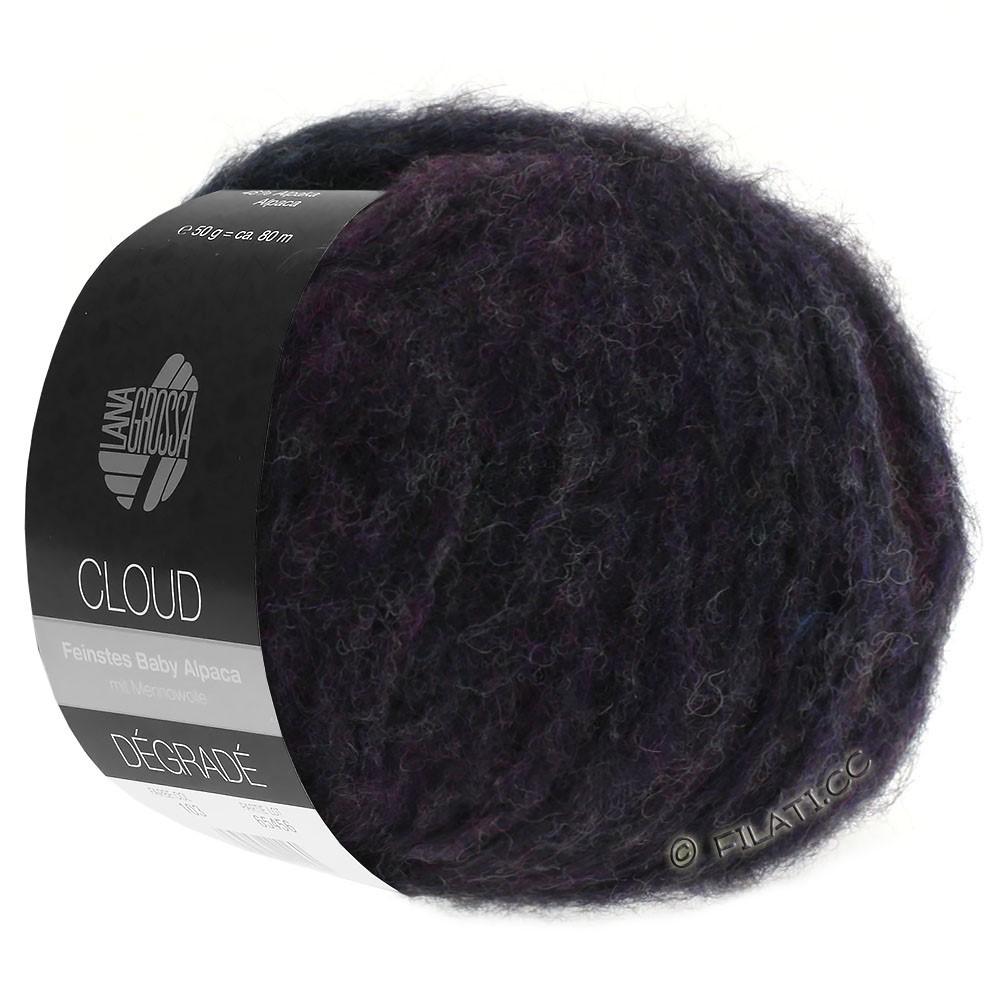 Lana Grossa CLOUD Dégradé | 106-blå violet/kaki