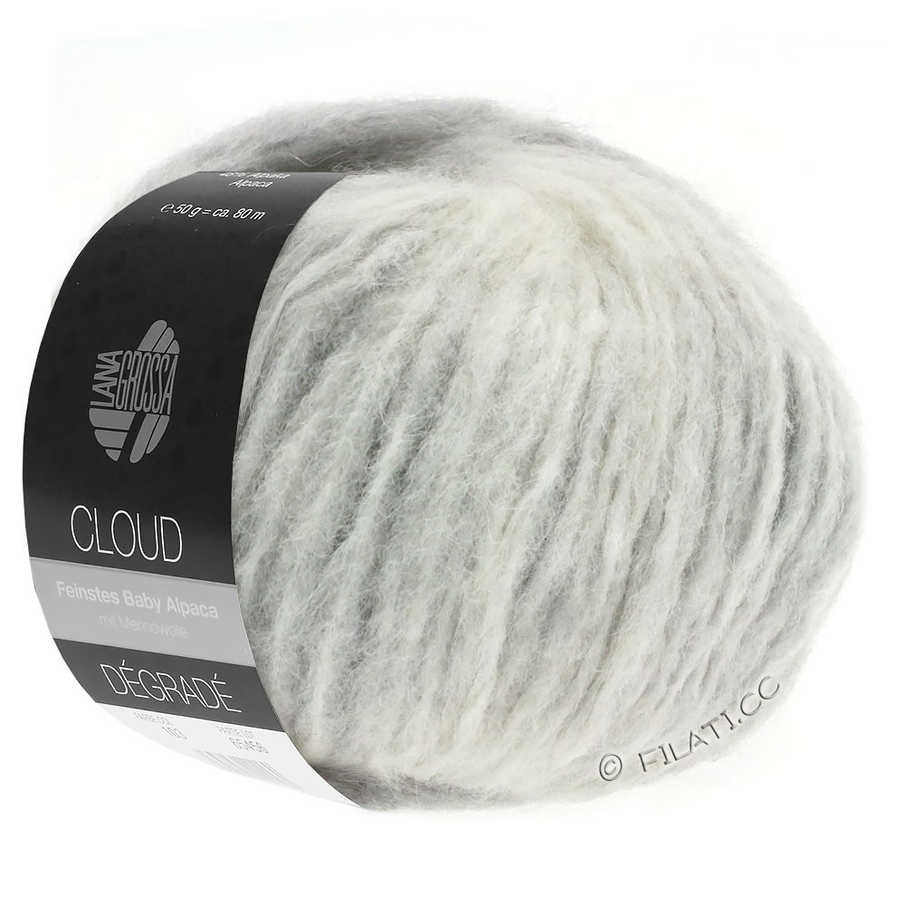 Lana Grossa CLOUD Dégradé | 110-lysegrå/rå hvid