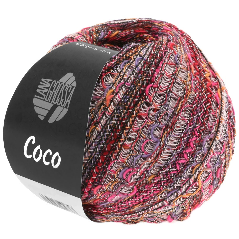 Lana Grossa COCO | 01-hvid/orange/pink