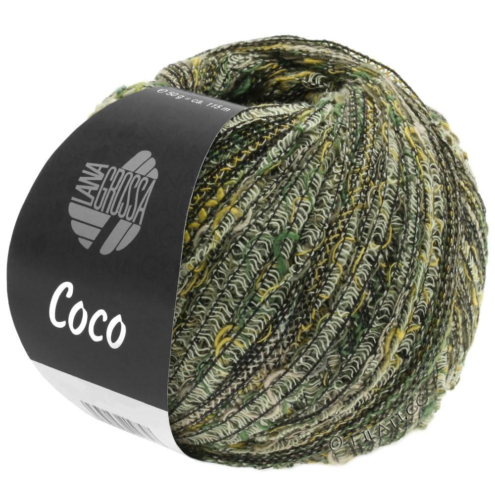 Lana Grossa COCO | 04-gul/mørkegrøn/natur/gråbrun