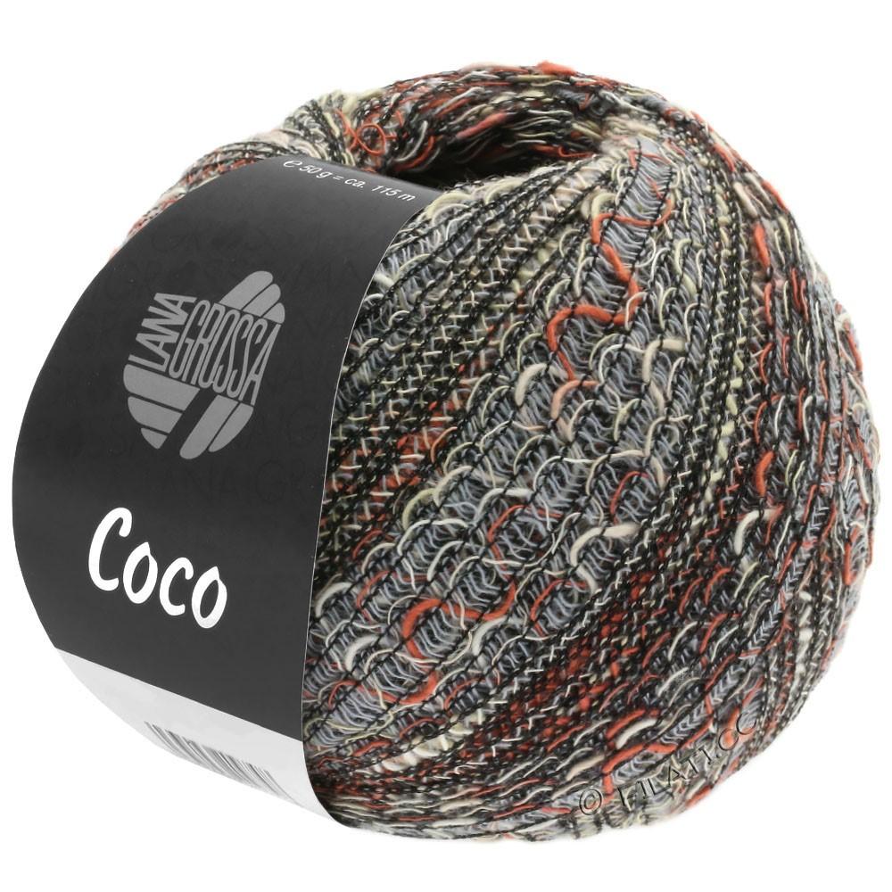 Lana Grossa COCO | 06-lysegrå/natur/terrakotta