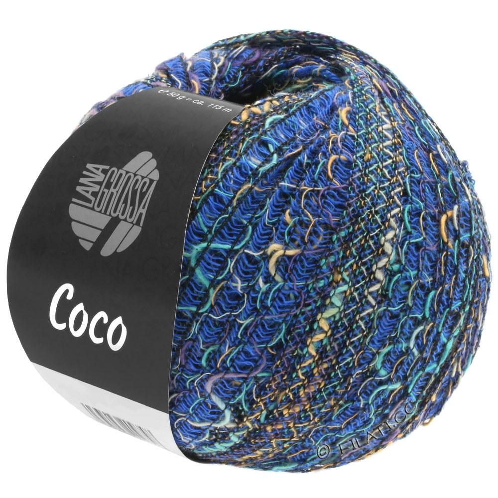 Lana Grossa COCO | 07-blå/lysegrå/turkis/purpur/sand