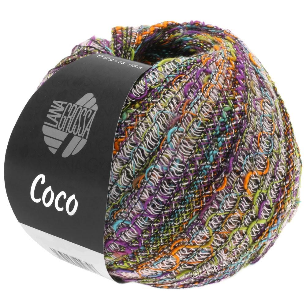 Lana Grossa COCO | 10-orange/turkis/rosa/pistacie/violet
