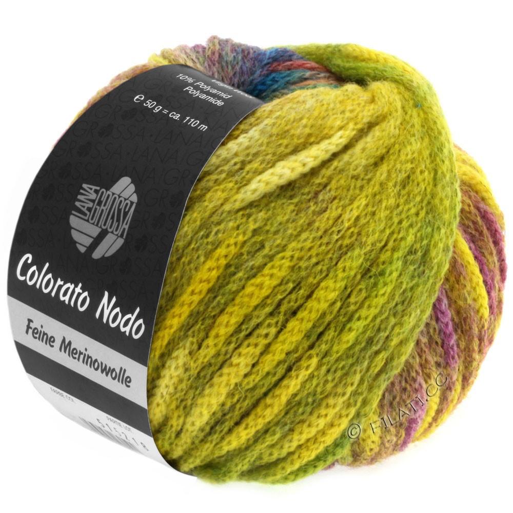 Lana Grossa COLORATO NODO | 101-gul/grøn/bær/lysegrøn/blå/gran