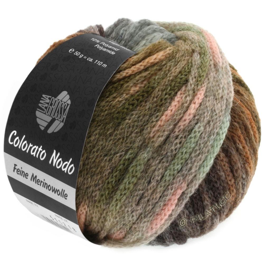 Lana Grossa COLORATO NODO | 107-kaki/nøddebrun/mynte/rosé/grågrøn