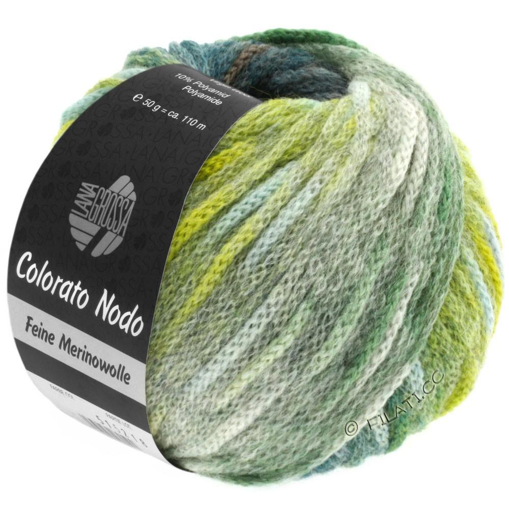 Lana Grossa COLORATO NODO | 108-grågrøn/petrol/gulgrøn/siv
