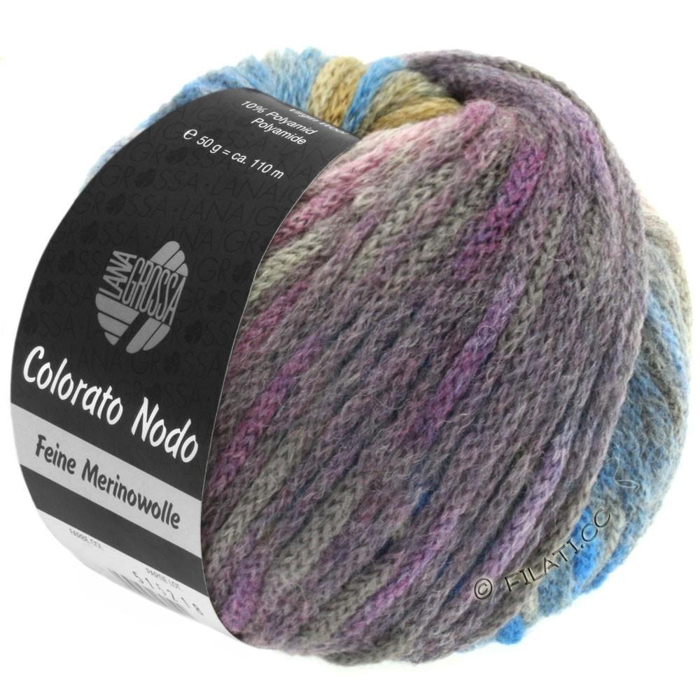 Lana Grossa COLORATO NODO | 109-natblå/umbra/gråblå/gråbrun/rødviolet/beige/bær