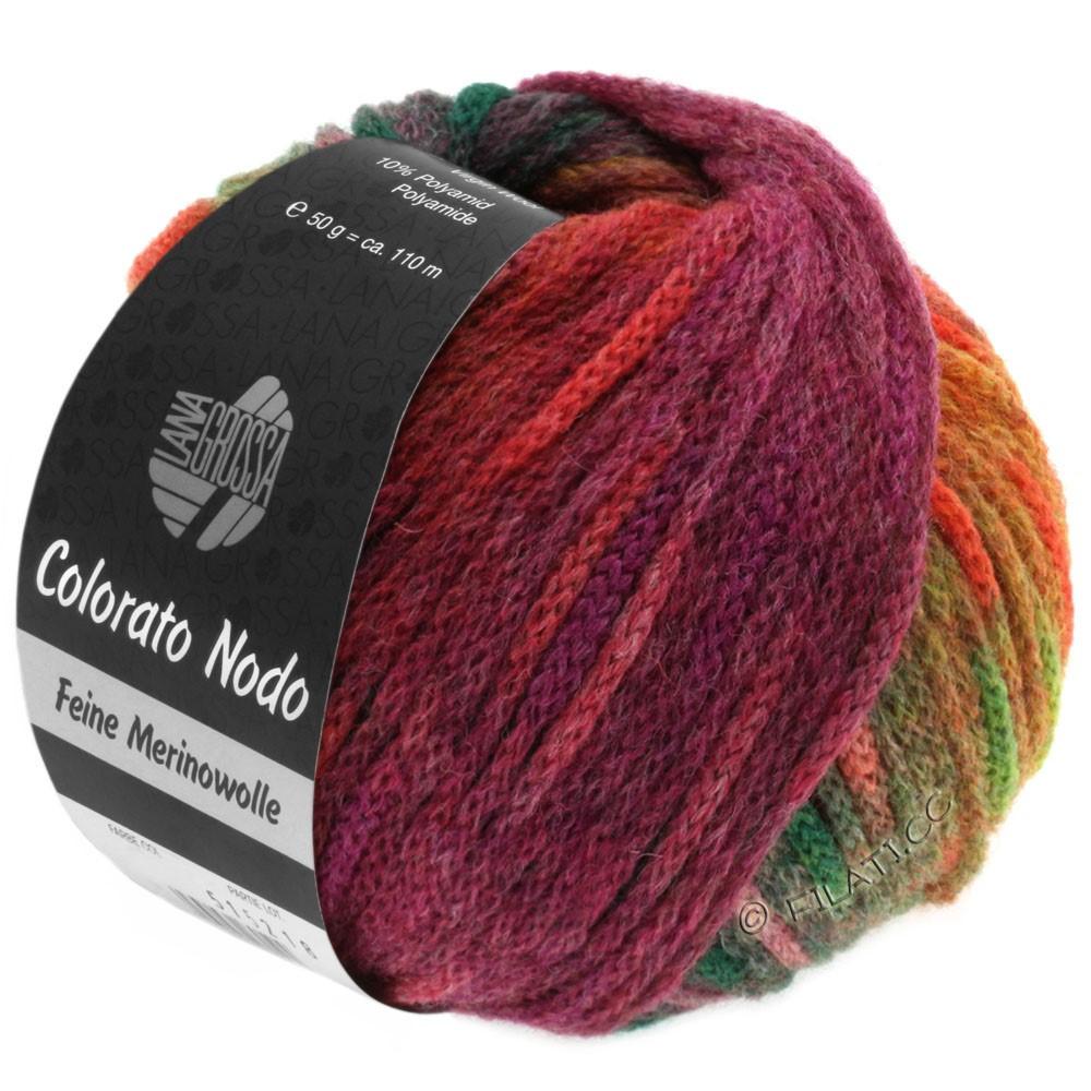 Lana Grossa COLORATO NODO | 110-ruste/bær/grågrøn/rødviolet/lilla/lysebrun