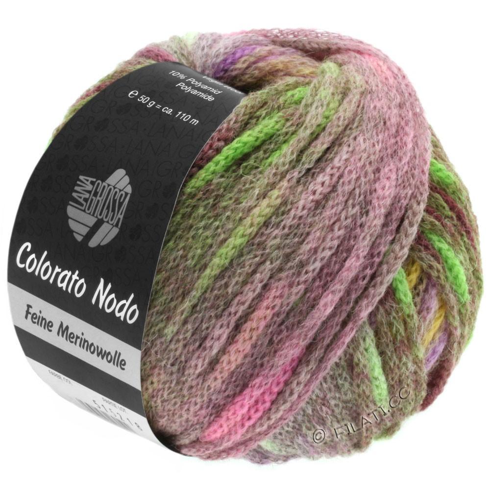 Lana Grossa COLORATO NODO | 113-rosa/sennepgul/bleggrøn/fersken/pink/purpur