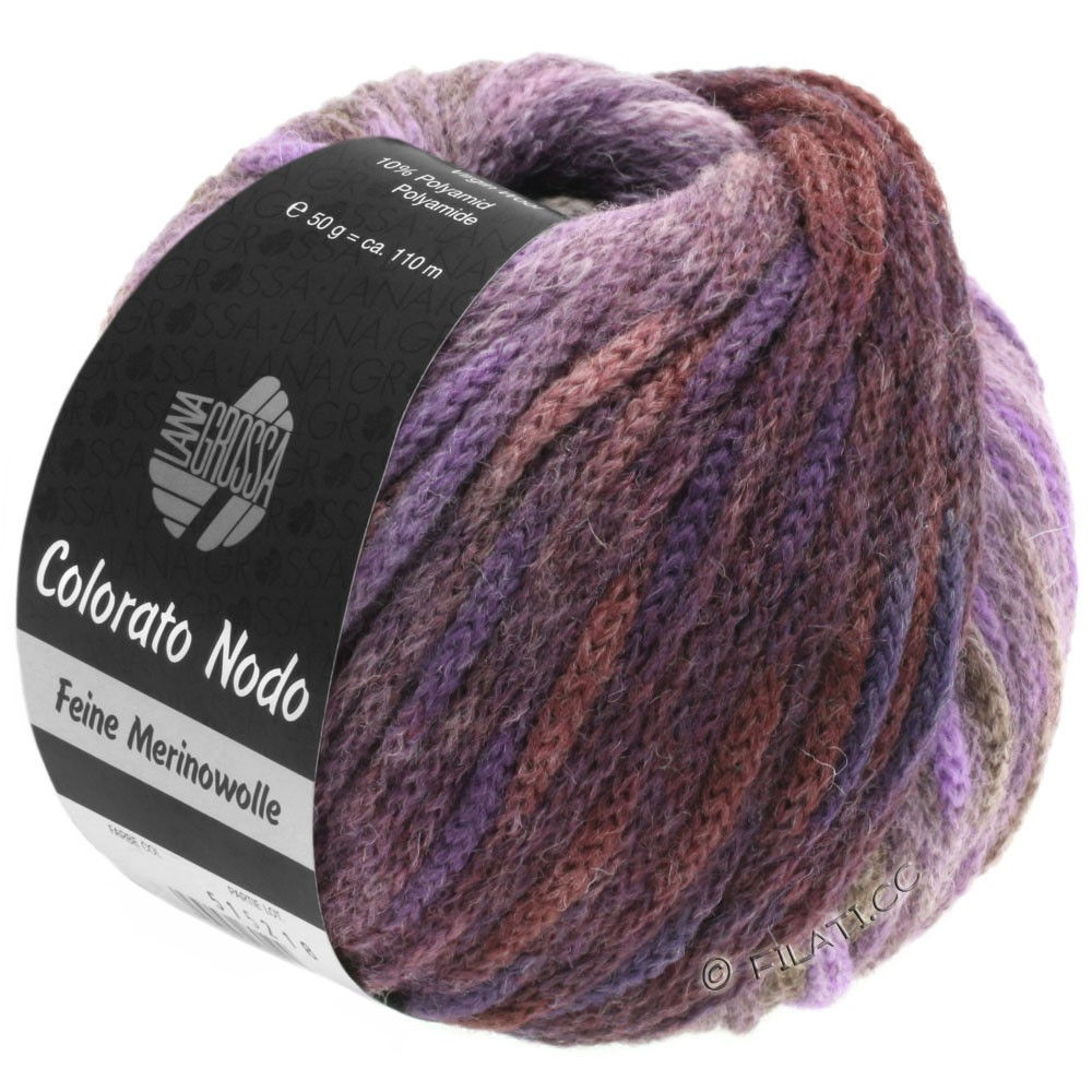 Lana Grossa COLORATO NODO | 115-brombær/purpur/gråbrun/blågrå/antracit