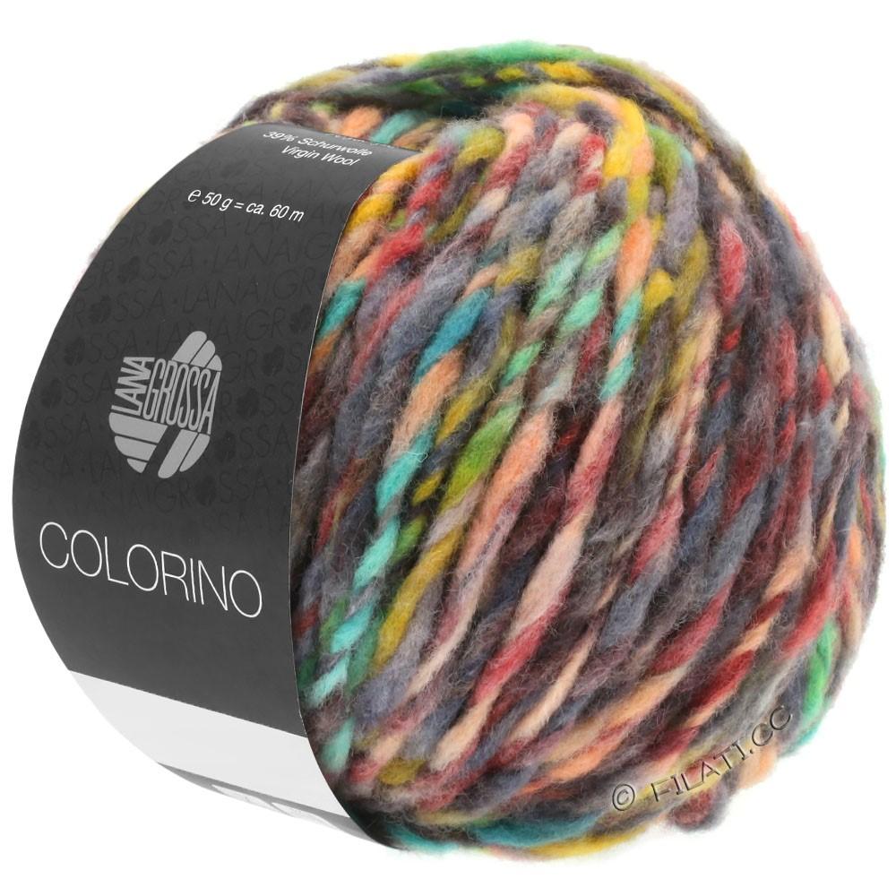 Lana Grossa COLORINO | 01-rød/grøn/grå/beige/antracit