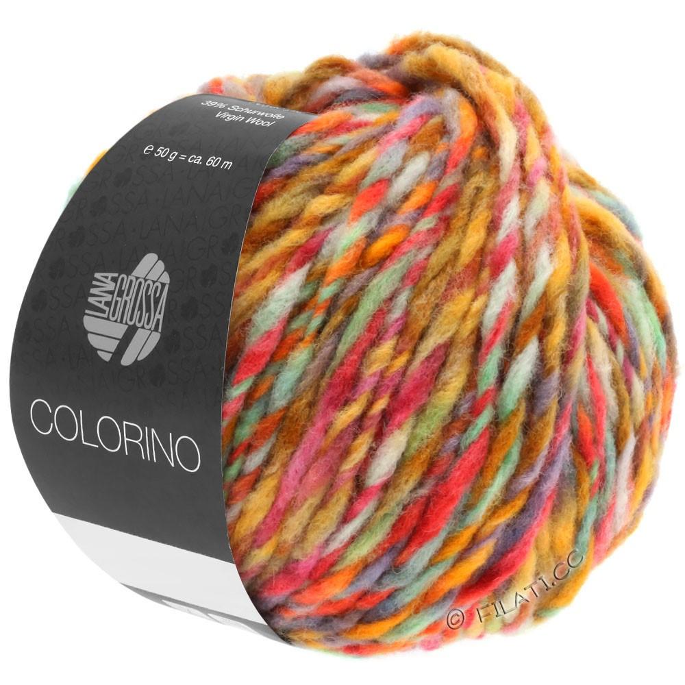 Lana Grossa COLORINO | 02-petrol/lysegrøn/blå/brun