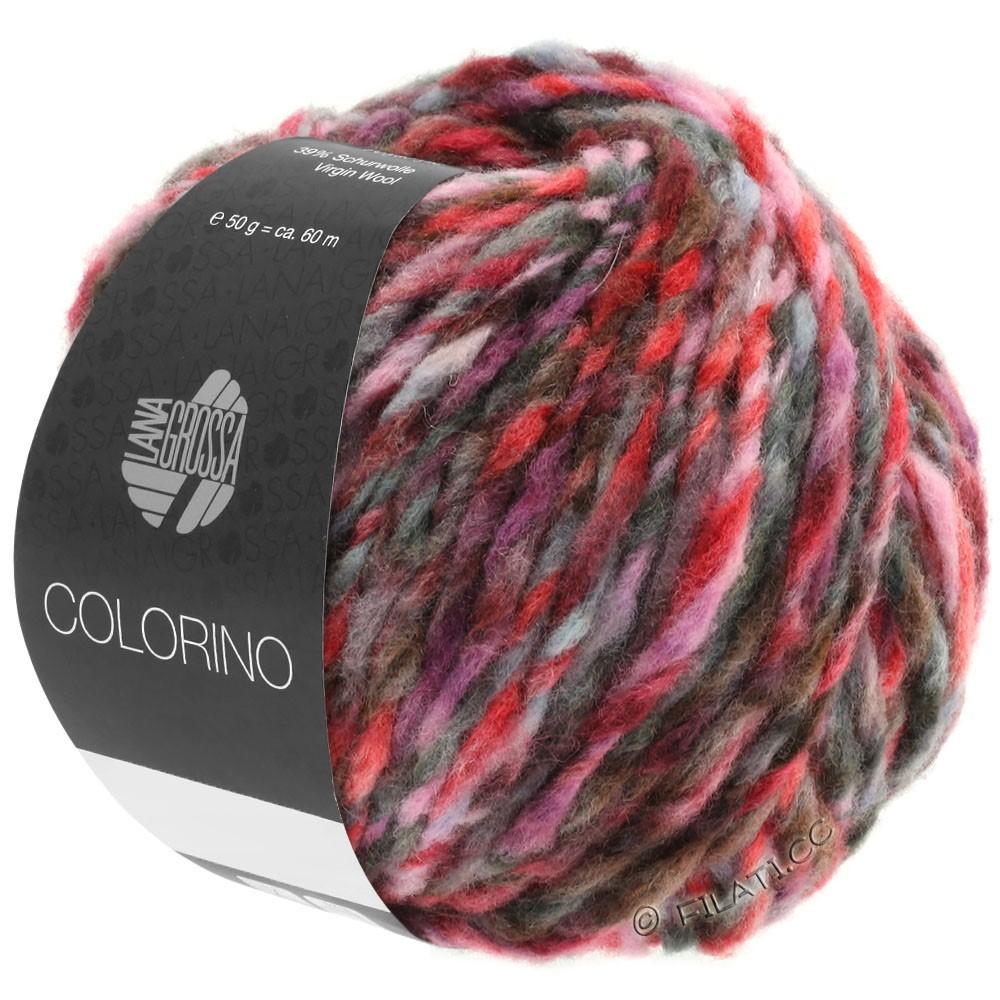 Lana Grossa COLORINO | 03-rød/rosa/grå/burgund/antracit