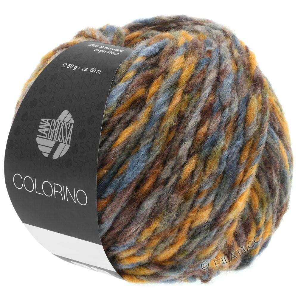 Lana Grossa COLORINO | 05-brun/okker/gråblå/grågrøn