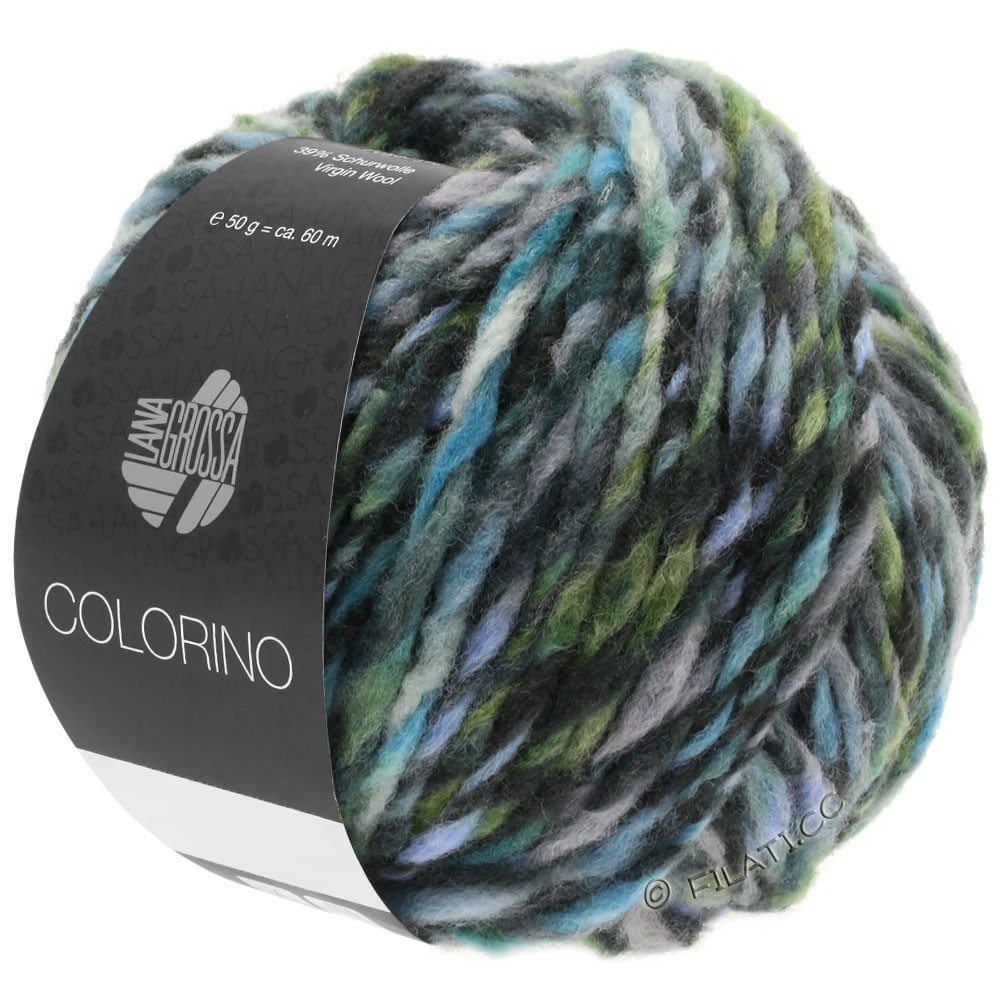 Lana Grossa COLORINO | 10-grå/antracit/lyseblå/grågrøn
