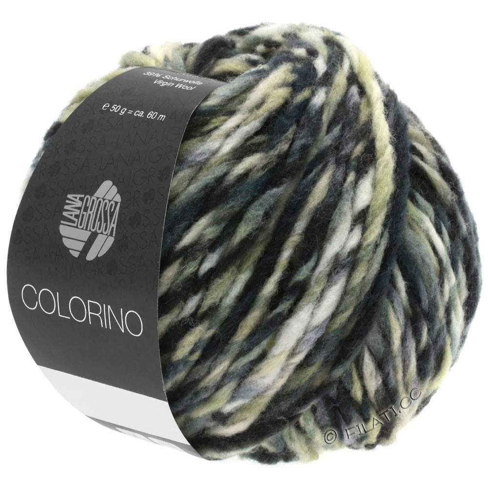 Lana Grossa COLORINO | 12-mørkebrun/beige/grå/antracit