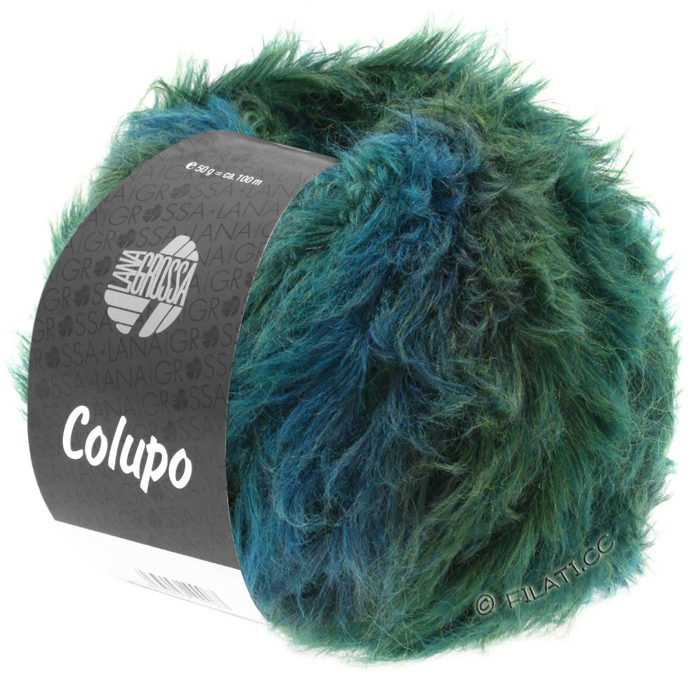 Lana Grossa COLUPO | 09-petrol/grøn