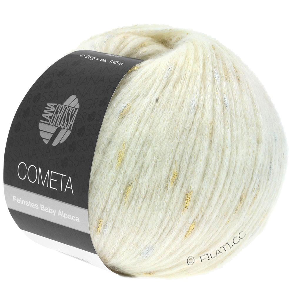 Lana Grossa COMETA | 001-rå hvid/gylden/sølv