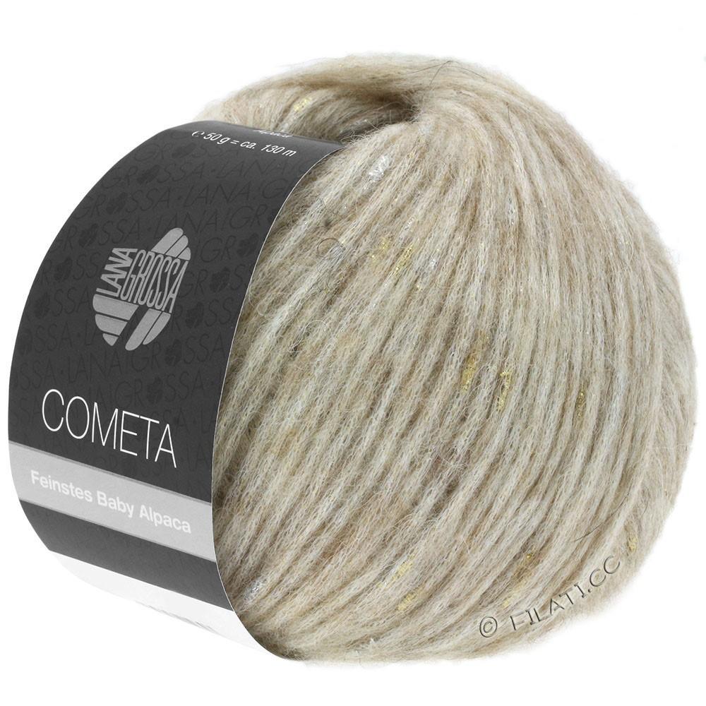 Lana Grossa COMETA | 002-beige/gylden/sølv