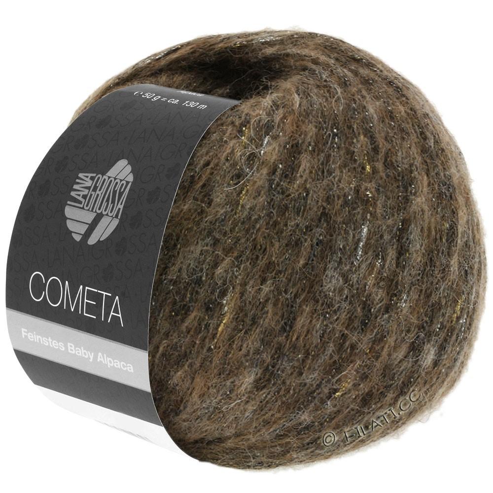 Lana Grossa COMETA | 003-mørkebrun/gylden/sølv