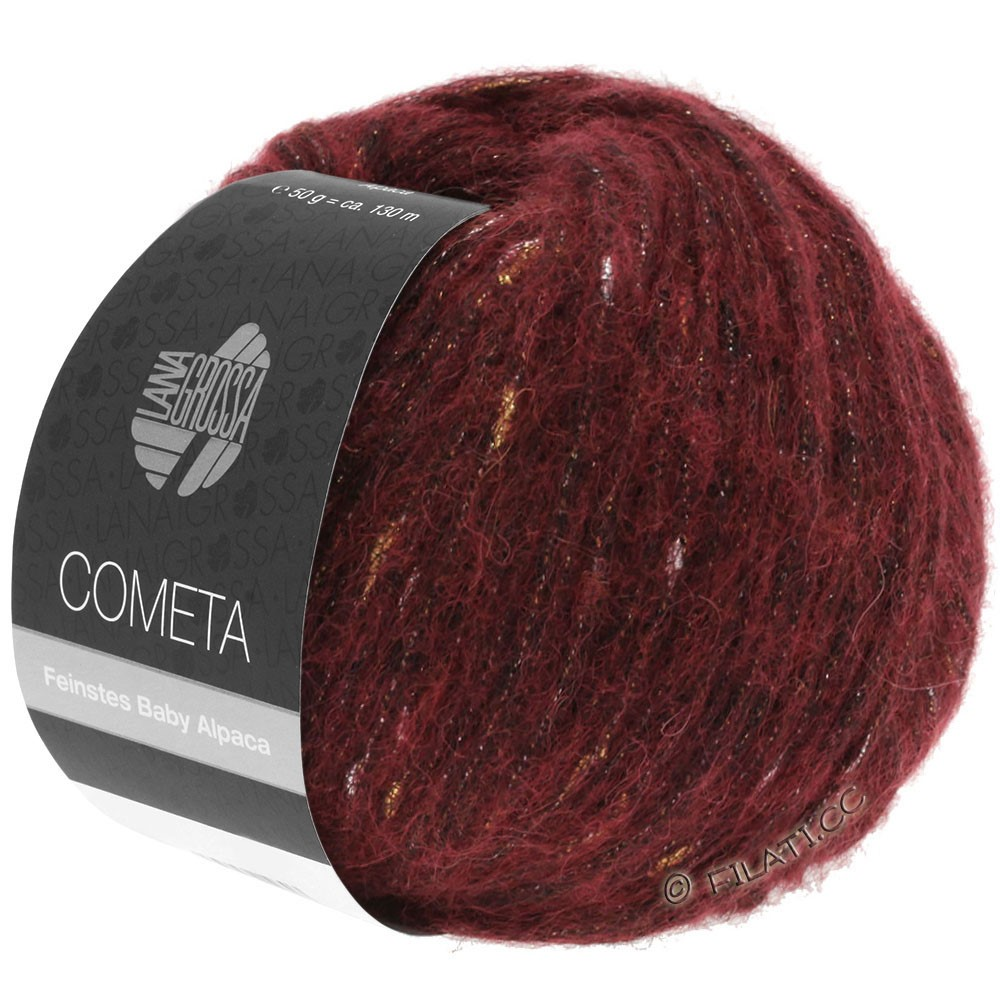 Lana Grossa COMETA | 005-mørkerød/gylden/sølv