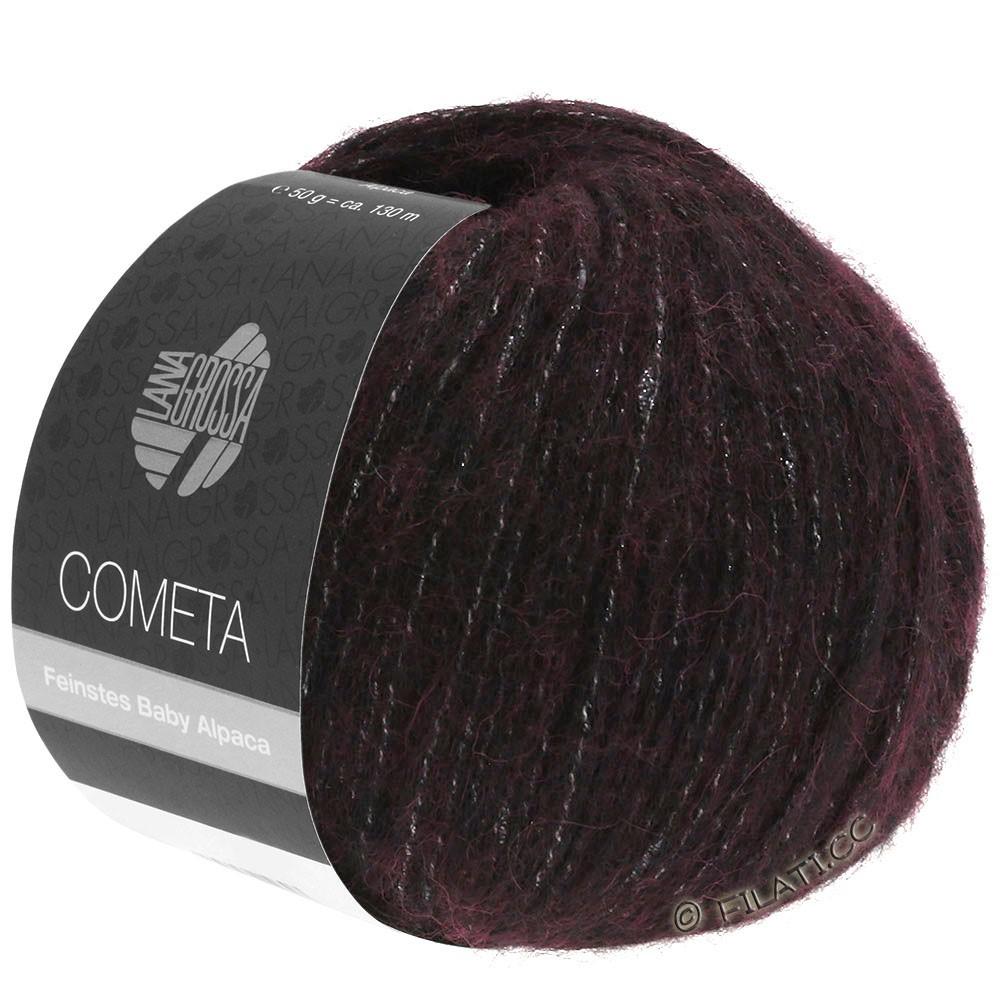 Lana Grossa COMETA | 006-sortrød/sølv