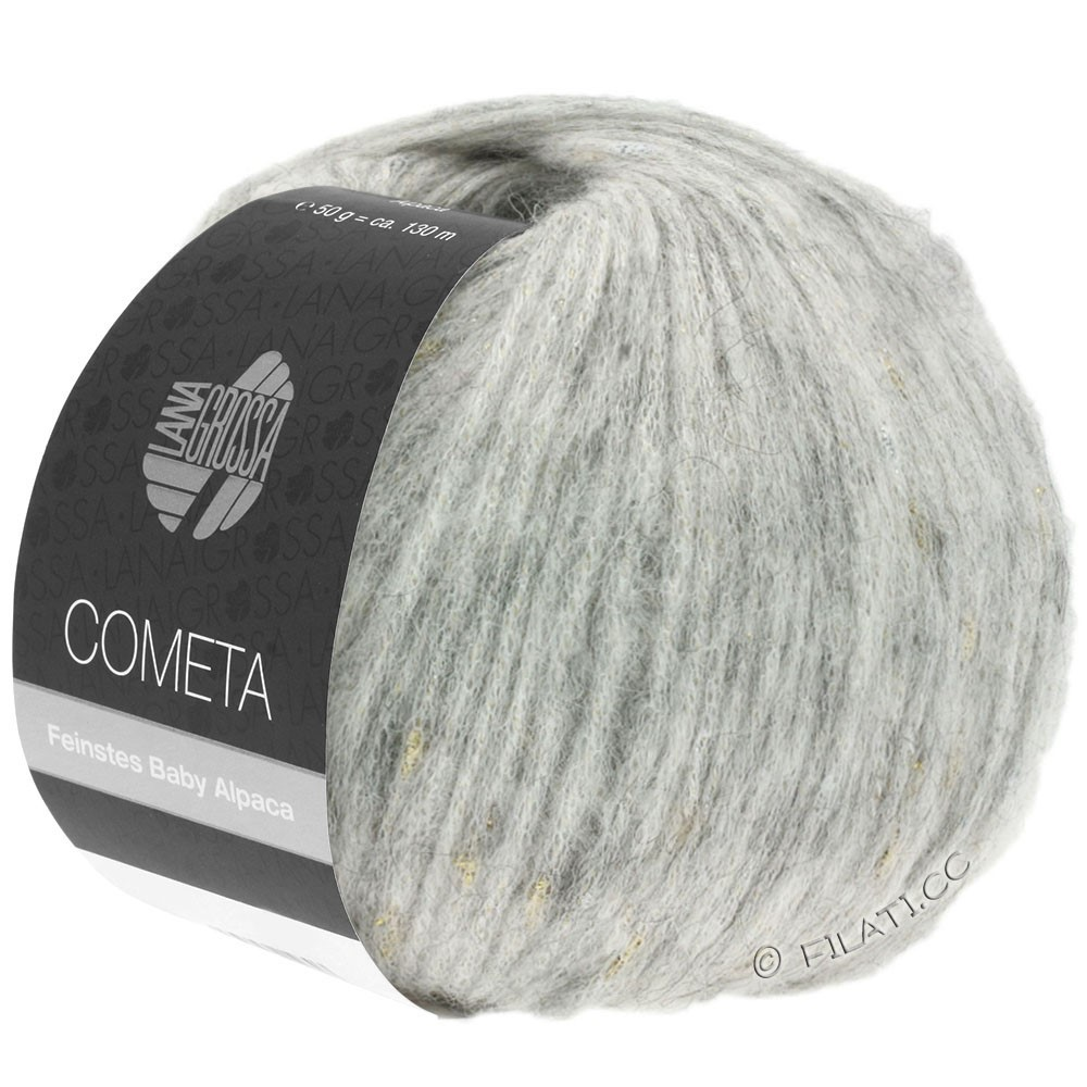 Lana Grossa COMETA | 008-sølvgrå/gylden/sølv
