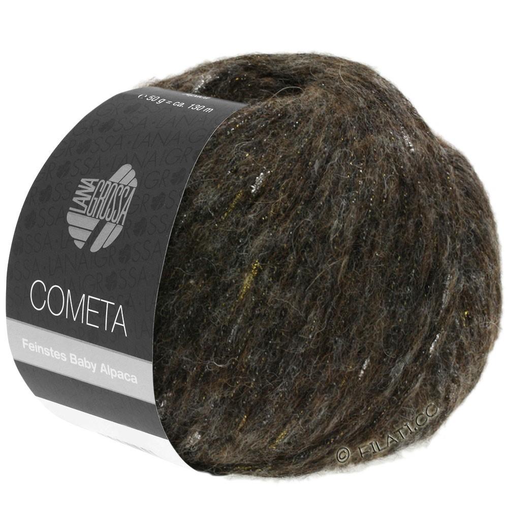 Lana Grossa COMETA | 012-sortbrun/gylden/sølv