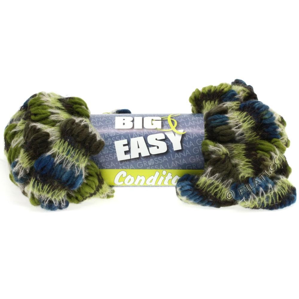 Lana Grossa CONDITO 150g (Big & Easy) | 05-oliven/kaki/petrol/sortbrun/natur