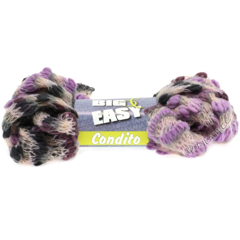 Lana Grossa CONDITO 150g (Big & Easy) | 06-lilla/rosentræ/perla/lysegrå/mørkegrå
