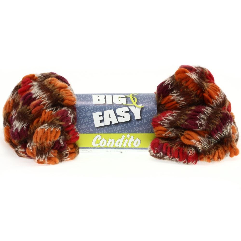 Lana Grossa CONDITO 150g (Big & Easy) | 08-orange/rød/bordeaux/natur/gyldenbrun/mokka