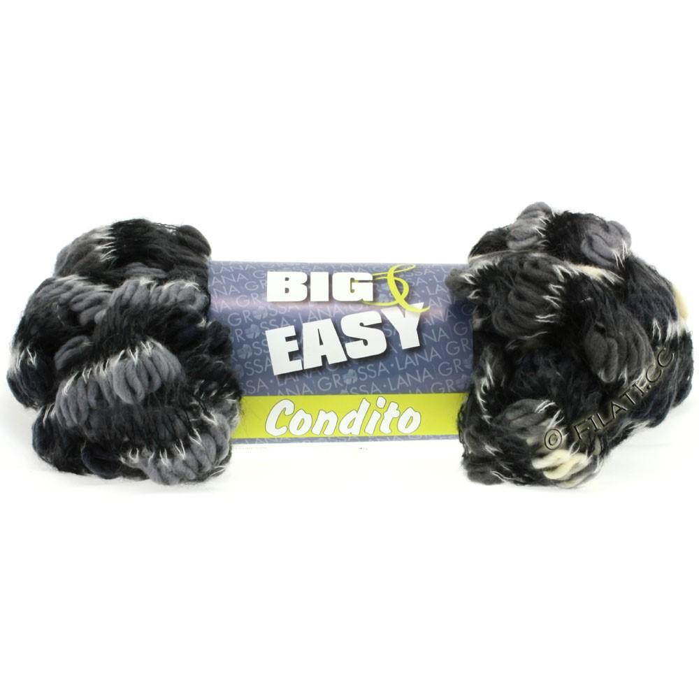 Lana Grossa CONDITO 150g (Big & Easy) | 10-natur/grå/antracit/sort/hvid