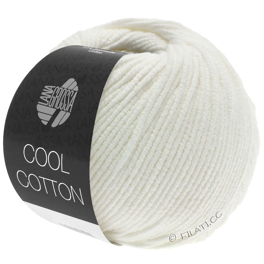 Lana Grossa COOL COTTON | 02-rå hvid