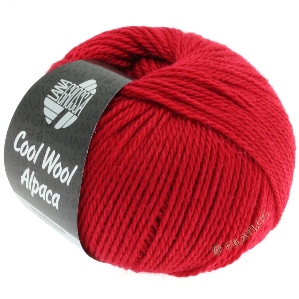 Lana Grossa COOL WOOL Alpaca | 04-rød