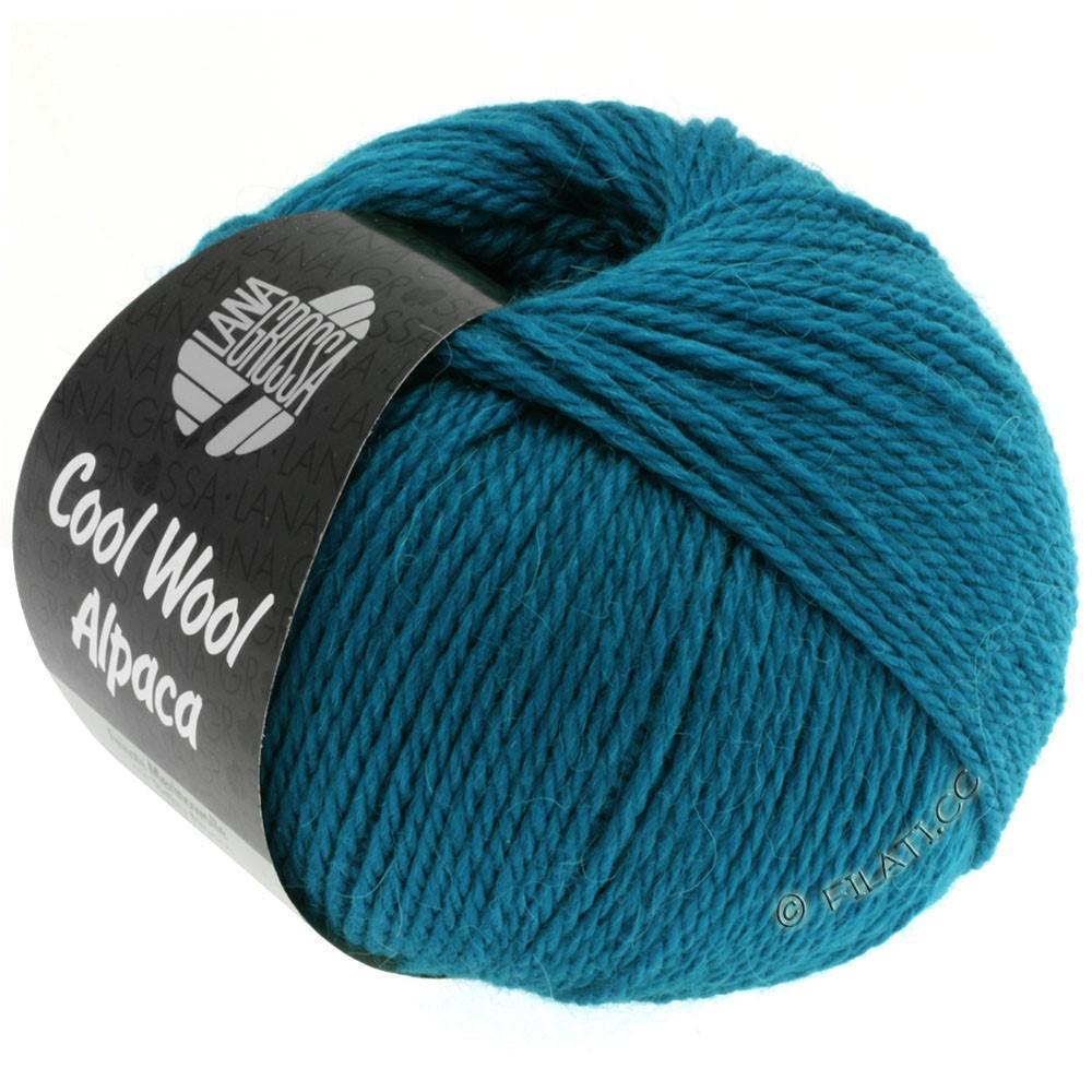 Lana Grossa COOL WOOL Alpaca | 09-petrol blå