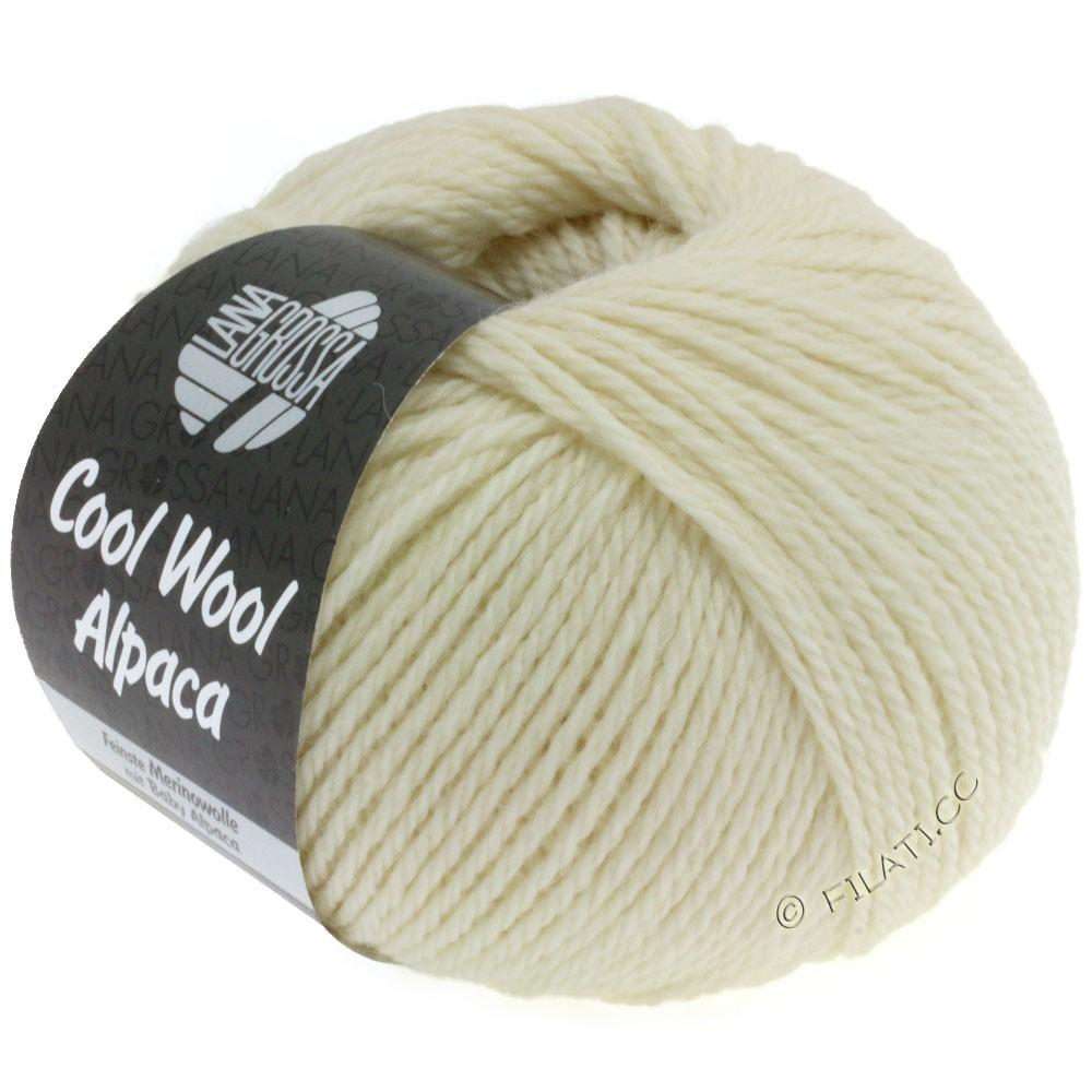 Lana Grossa COOL WOOL Alpaca | 13-rå hvid