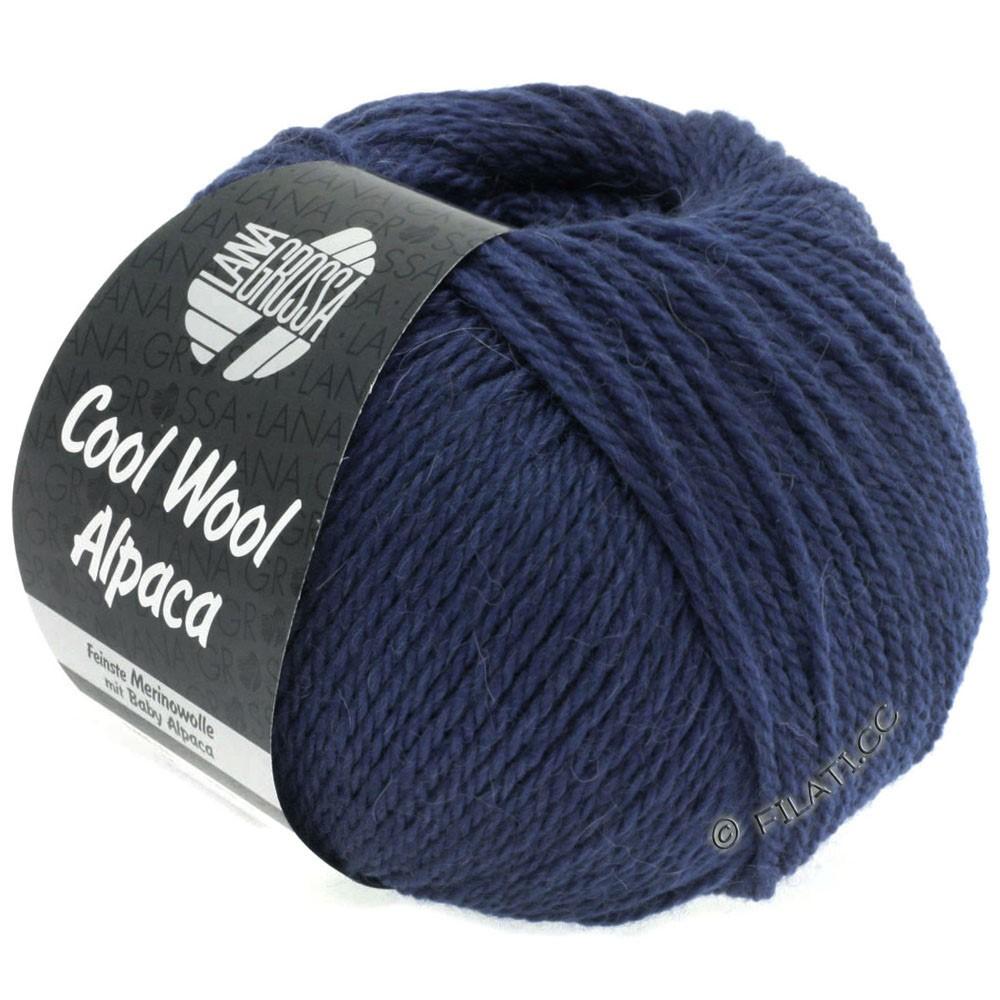 Lana Grossa COOL WOOL Alpaca | 15-mørkeblå