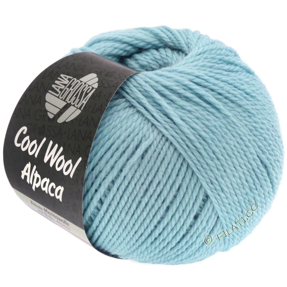 Lana Grossa COOL WOOL Alpaca | 18-lyseblå