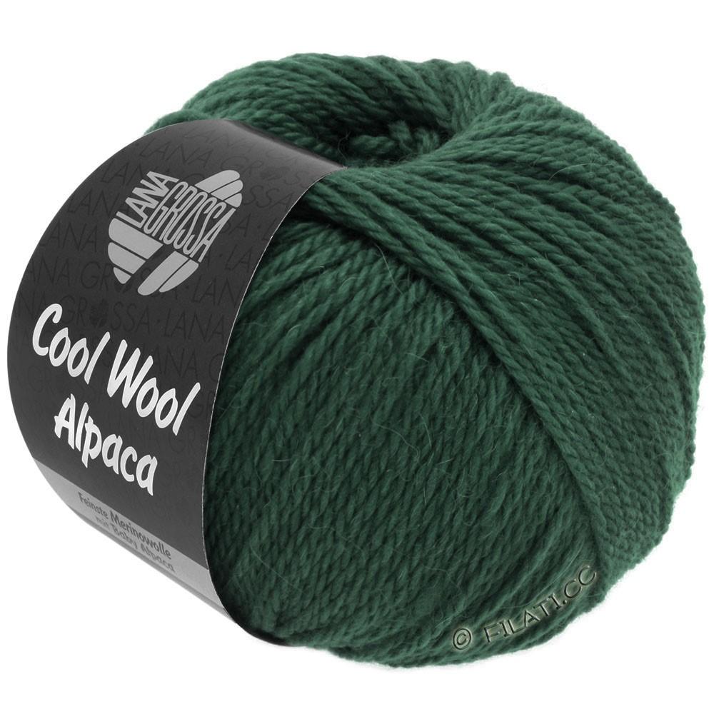 Lana Grossa COOL WOOL Alpaca | 34-mørkegrøn