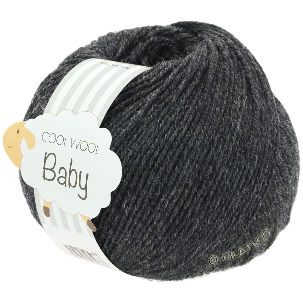 Lana Grossa COOL WOOL Baby 25g | 205-antracit