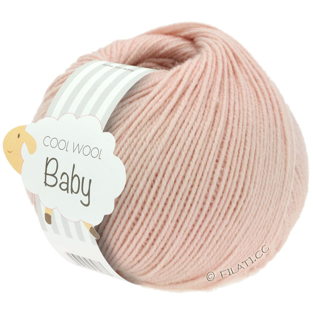 Lana Grossa COOL WOOL Baby 25g | 246-pudder rosa