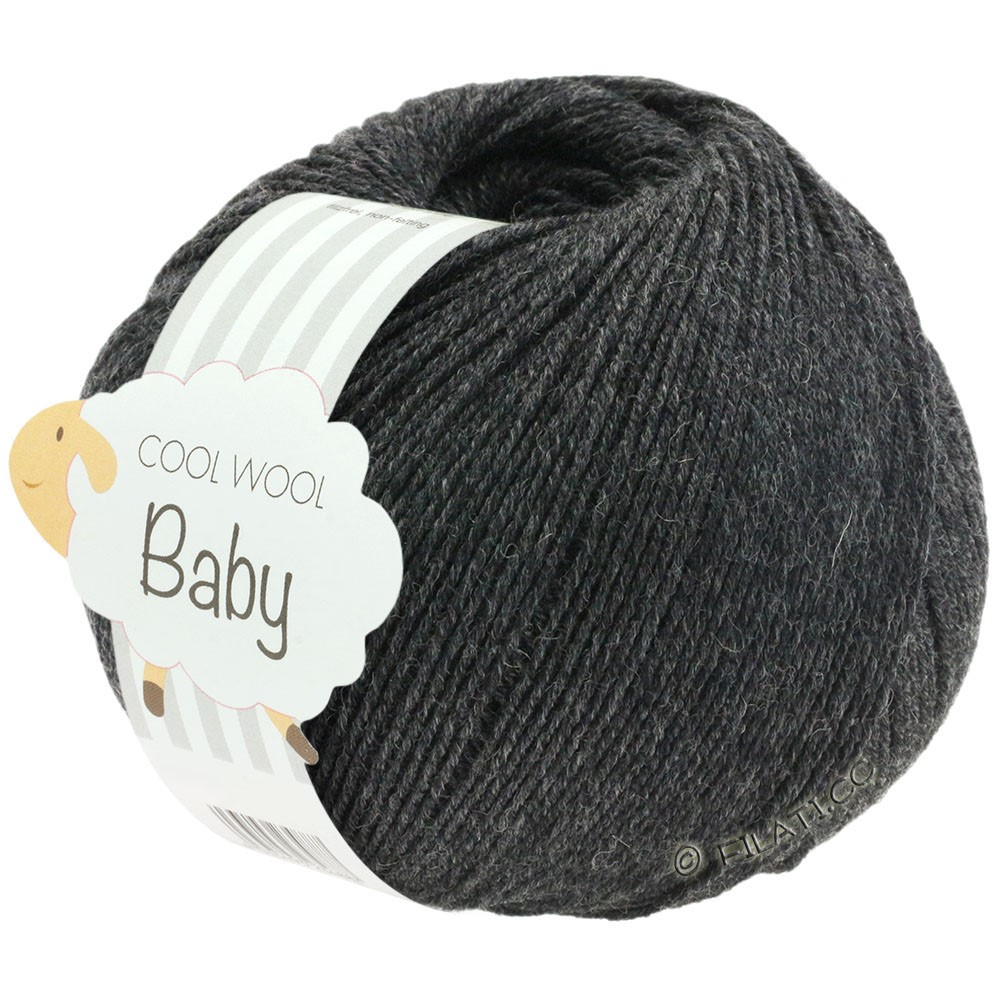 Lana Grossa COOL WOOL Baby Uni/Degradé | 205-antracit