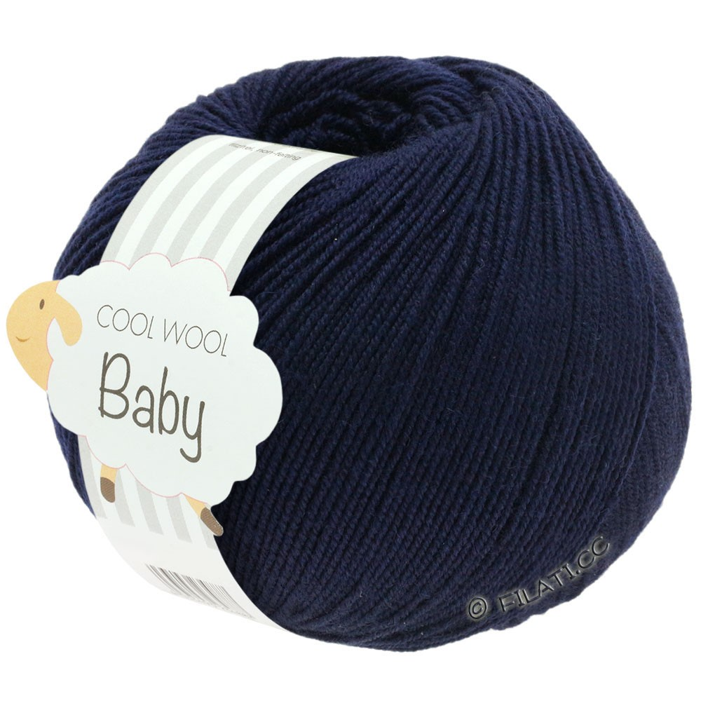 Lana Grossa COOL WOOL Baby Uni/Degradé | 210-natblå